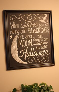 Decorations Some really great All Hallow's Eve decorating ideas here!Some really great All Hallow's Eve decorating ideas here! Halloween Signs, Halloween Boo, Holidays Halloween, Halloween Treats, Happy Halloween, Halloween Decorations, Halloween Poems, Halloween Witches, Halloween Table