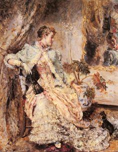 Эдуардо Леон Гарридо, картина «Элегантная женщина и ее собака»