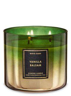 White Barn Bath andamp; Body Works 3 Wick Candle Vanilla Balsam #jarcandles
