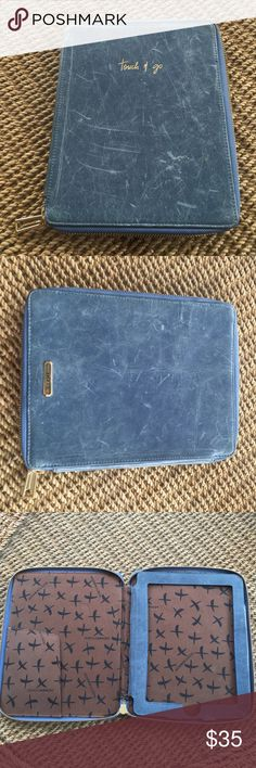 Rebecca Minkoff iPad Case Distressed Rebecca Minkoff 'Touch & Go' iPad case. The case was in this conditioned when purchased originally, it is supposed to have a distressed look. Used for maybe a month. Fits original size iPad. Super cute and cheeky. Rebecca Minkoff Accessories Tablet Cases