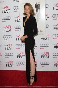 "Stana Katic at the ""Saving Mr. Banks"" premiere in LA."