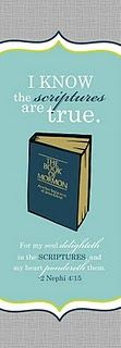 LDS - 'I Know the Scriptures are True' Bookmark (based on 2011 Primary Sharing Time Theme)