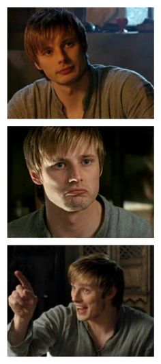 More facial expressions from Arthur. The first one makes me wanna jump him and do dirty things. Who am I kidding all his expressions do that to me! Lol