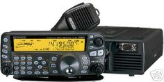 Kenwood TS-480sat Mobile HF rig. I owned one of these for about a year - never mobile. As a base, it worked out pretty good by having the display on top of the desk and the body of the unit down below. I like the large display screen as well.
