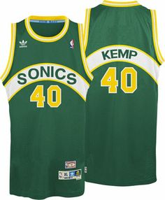 fbc68139b Shawn Kemp Jersey  adidas Green Throwback Swingman  40 Seattle SuperSonics  Jersey Gary Payton