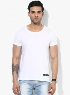 Longline Tee by Tiktauli De. Corps. With Side and back Metal Zip & long scoop back