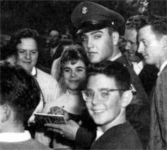 Elvis with Young German girl Margit Burgin in Bad Homburg in october 5 1958.