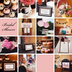 pink and black bridal shower ideas