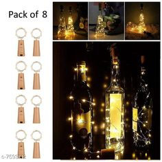 Lights Cork Led String Warm Lights (Pack of 8) Material: Plastic Pack: Multipack Cable Length: 2 M Country of Origin: India Sizes Available: Free Size   Catalog Rating: ★4.2 (1327)  Catalog Name: Classy Indoor String Lights CatalogID_1228753 C127-SC1620 Code: 105-7593112-9931