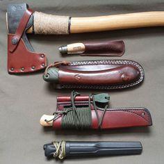 De beaux outils pour le bushcraft.