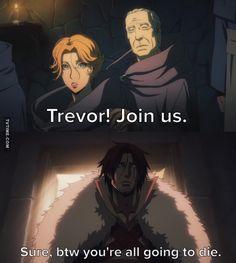 Castlevania Netflix, Castlevania Anime, Dracula, Castlevania Lord Of Shadow, Trevor Belmont, Lord Of Shadows, Great Memes, Alucard, Cartoon Shows
