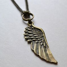 Guardian Wing Charm Necklace by Bijoux Devine