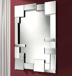Facet Mirror 126 x 80 x Facet Mirror 126 x Mirror Mosaic, Furniture Styles, Furniture Decor, Modern Mirror Design, Mirror Inspiration, Creation Deco, Mirrored Furniture, Decoration, Dekoration