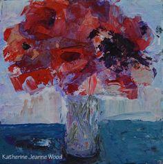 Katherine Jeanne Wood - 4x4 Flower Series No 30