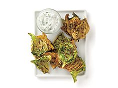 Caraway Cabbage Chips with Dill Yogurt Recipe | Epicurious.com
