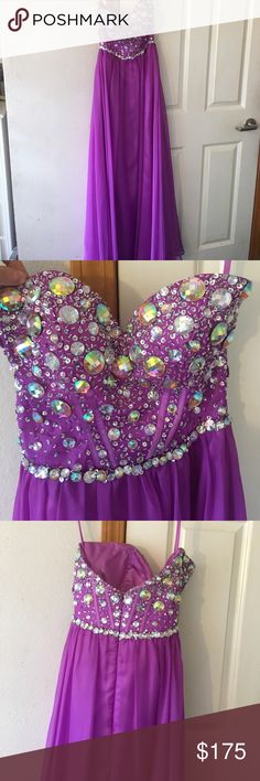 Beautiful strapless prom dress! Worn only once. Beautiful bedazzled strapless gown worn only once in excellent condition! FLIRT by Maggie Sottero Dresses Prom