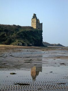 Greenan Castle is a 16th-century tower house, possibly on the site of an ancient fort, around 2.5 miles south-west of Ayr in South Ayrshire, Scotland. Greenan Shore and Castle - geograph.org.uk -