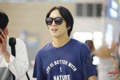 Jung Yong Hwa @ Incheon Airport heading to Guang Zhou 140711