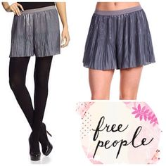 Free People pleated shorts Such a cute style that transition well between seasons. During cold weather wear them with tights and during the summer show off your legs. Made to be worn higher on the waist. Features an elastic waistband.  For more information, measurements, and exclusive discounts on this and many more items check out www.quotureclothing.com  Copy and paste the link below into your browser to be taken directly to this item…
