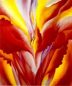"She was an amazing talent...Georgia O'Keeffe, ""Red Canna"" 1923"