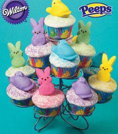 PEEPS Chicks and Bunnies Cupcakes from @Wilton Cake Decorating #livelovebake