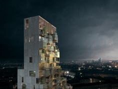 Architecture, visualization, rendering, tower, copenhagen