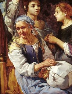 The Lacemaker by Bernhard Keilhau, in the Ashmolean Museum, Oxford.