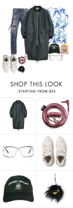 """""""He."""" by revolutionluxx ❤ liked on Polyvore featuring AMIRI, H&M, Cazal, Raf Simons, Emotionally Unavailable, Fendi, women's clothing, women's fashion, women and female"""