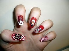 best funky nail art designs for girls Nail Designs Tumblr, Nail Designs Pictures, Red Nail Designs, Pretty Nail Designs, Winter Nail Designs, Simple Nail Designs, Cute Christmas Nails, Xmas Nails, Christmas Nail Art Designs