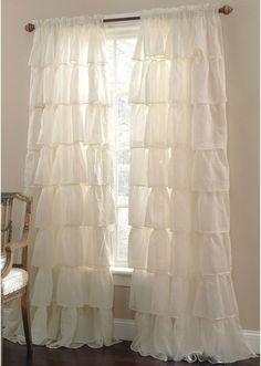 Lorraine Gypsy Ruffled Rod-Pocket Sheer Panel... I absolutely LOVE my curtains