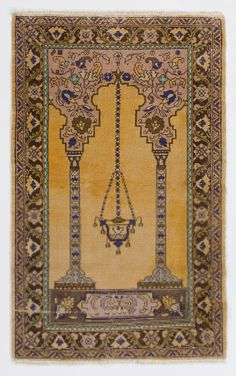 An old hand-knotted village rug from Central Anatolia. Clean and sturdy. Size: x cm), Stock no: Beige Carpet, Wool Carpet, Muslim Prayer Rug, Old Hands, Machine Made Rugs, State Art, Photo Art, Bohemian Rug, Prayers