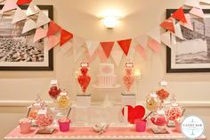 Pink & Red Candy Buffet