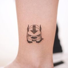 """""""Appa"""",the character is from Tv show, """"Avatar: The last airbender"""" . """"Appa"""",the character is from Tv show, """"Avatar: The last airbender"""" . Movie Tattoos, Anime Tattoos, Disney Tattoos, Foot Tattoos, Body Art Tattoos, Sleeve Tattoos, Geek Tattoos, Arrow Tattoos, Skull Tattoos"""