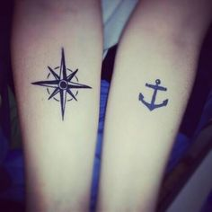 Matching couple's tattoo