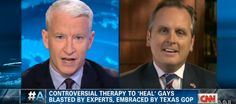 Anderson Cooper smacks up Texan idiot who supports 'gay reparation therapy' - VIDEO - http://holesinthefoam.us/anderson-cooper-destroys-christian-anti-gay-texas-state/