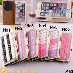 50x Luxury Rhinestone Case For iPhone 6 4.7 Inches Bling Crystal Diamond Case Flip PU Leather For Apple iPhone6 Wallet Card Case, HAccept the payment method via Paypal, Escrow, Credit Card, etc...