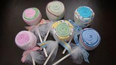 baby washcloth lollipop