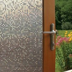 Fancy-fix Cut Glass Mini Mosaic Decorative Window Film 17.7 In. By 59 In.