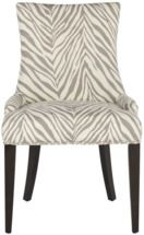 Becca Dining Chair in Grey Zebra by Safavieh