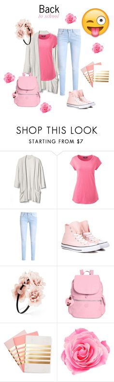 """""""Back to school"""" by heal838 ❤ liked on Polyvore featuring Gap, Lands' End, Converse, Forever 21, Kipling and StudioSarah"""