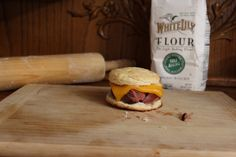 Cheddar Pork Rib Biscuit Sandwich - http://www.diypinterest.com/cheddar-pork-rib-biscuit-sandwich/