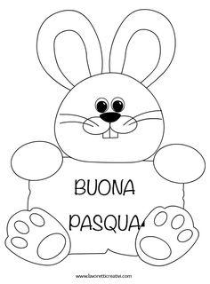 Coniglio da realizzare cartoncini colorati per il periodo di Pasqua. Addobbi Pasqua fai da te Coniglio di Pasqua Materiale: Cartoncini bianchi Forbici Coll