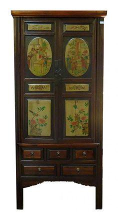 2 Door 5 Drawer Antique Cabinet