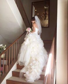 akiko__endoハワイ挙式されたモデルの滝川その美さん@sonomi_takigawa_officialからいただいたお写真♡ ドレスはVera Wang Bride GinzaのHayley/ヘイリーです。