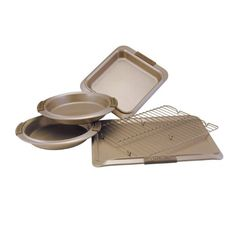 Anolon Advanced Bronze Nonstick Bakeware 5Piece Set with Silicon Grips * Click on the image for additional details.