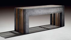 Bank aus Beton & Holz