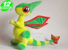 Pokemon Flygon Plush  Awesome Pokemon Flygon is now available as a soft toy! These high-quality plushes are super detailed, including its sharp wings, striped tail and even its little claws.  - Plush is approx 30 cm / 12 inches tall. - Brand new with tags. - Ages 6 & up.
