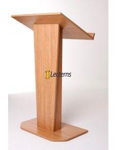 Tapered lectern design in oak finish