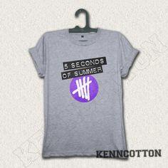 5SOS shirt 5 seconds of summer tshirt logo new by KennCotton, $17.00