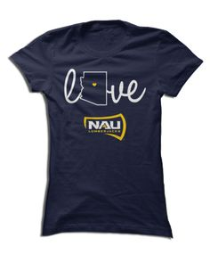 Northern Arizona University - Love With State Outline